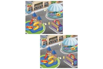 """2x Disney Pixar Toy Storey 31.5"""" x 27.5"""" Megamat Playmat Kids 3y+ w/Vehicle Asst"""