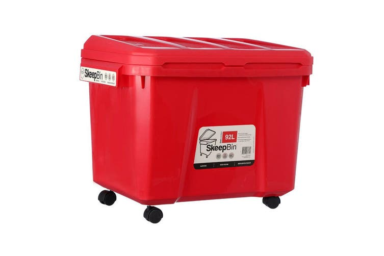 Box Sweden 92L Asst. Skeep Bin Outdoor/Garage/Kids Playroom Storage Box w/Wheels
