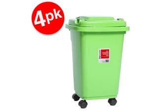 4x BoxSweden 32L 55cm Heavy Duty Wheelie Waste/Rubbish/Toys Storage Bin Assorted