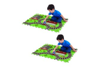 "2x Thomas & Friends 28"" x 19"" Megamat Playmat Kids 3y+ Toy w/ 1 Assorted Vehicle"