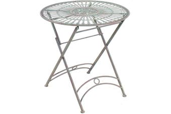 Provence Collection 73cm Metal Round Table Outdoor Garden Furniture Home Decor