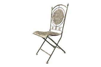 Riviera 95cm Decorative Iron Chair Outdoor Garden Furniture Home/Room Decor Grey