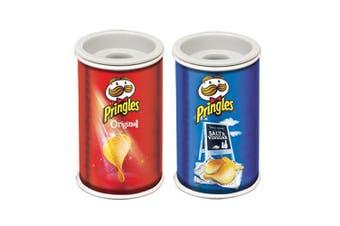 2pc Helix Pringles Single Hole Pencil Sharpener School Salt & Vinegar/Original