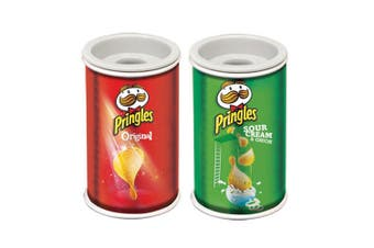 2pc Helix Pringles Single Hole Pencil Sharpener Sour Cream & Onion/Original