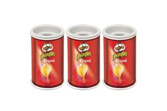 3x Helix Pringles Single Hole Pencil Sharpener School/Office Stationery Original