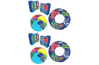 6pc PJ Masks Floating Inflatable Kids Water Swimming Pool Armbands/Ring/Ball Set
