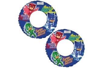 2x PJ Masks Floating Inflatable Kids Ring Swimming Pool Round Water Fun Safety