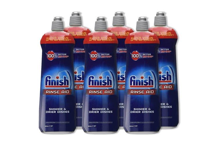 6x Finish 800ml Dishwashing Rinse Aid Shine/Protect Shiny/ Drier/Drying Dishes