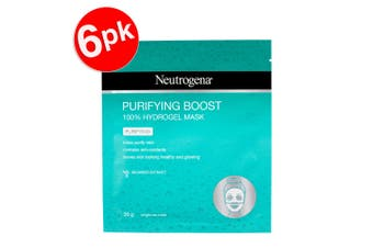 6x Neutrogena 30g Hydrogel Purifying Face Mask w/Anti Oxidant/Seaweed Extract