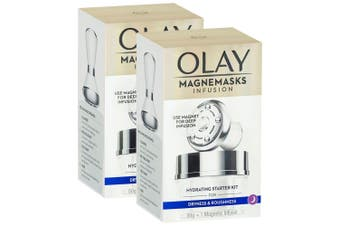 2x Olay 50g Women Magnemasks Infusion Hydrating Mask/Infuser Starter f/ Dry Skin