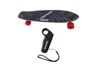DMC Urban E Skateboard 17km/h 80cm Maple Deck w/Wireless Remote Control 9y+ BLK
