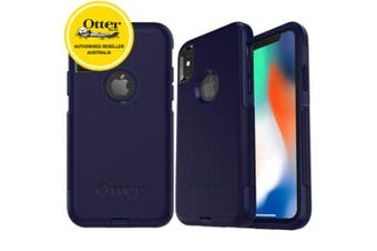 Gen Otterbox Commuter Apple iPhone X Case Cover Dust Drop Protection Indigo Way