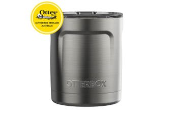 Otterbox Elevation Tumbler 300ml Travel Drink Cup w/Lid Stainless Steel Silver