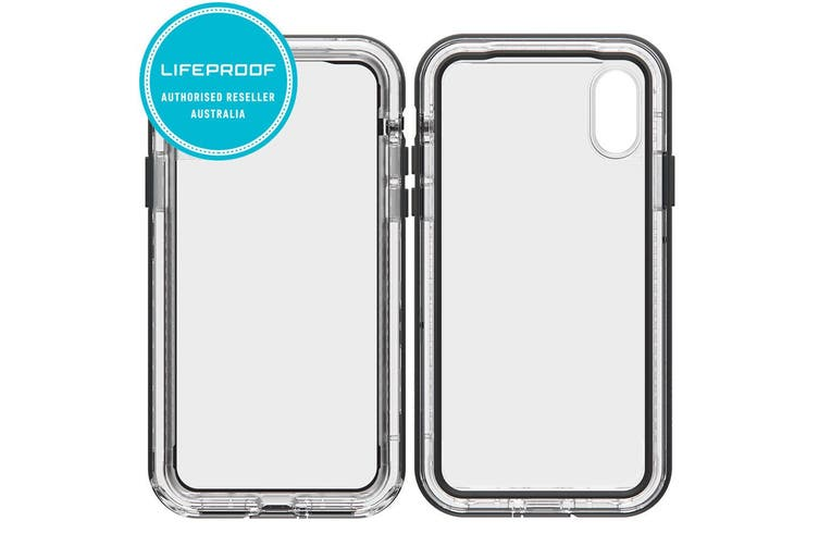 Lifeproof Next Case/Rugged Cover Drop/Dirt Proof for iPhone X/Xs Black/Crystal