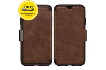 Otterbox Strada Folio Leather Case for iPhone Xs Max Wallet Card Slot Espresso
