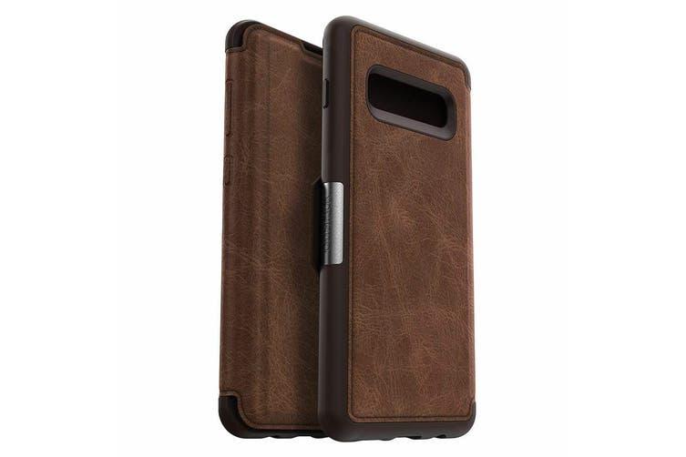 Otterbox Strada Protective Leather Case Cover f/ Samsung Galaxy S10+ Espresso BR