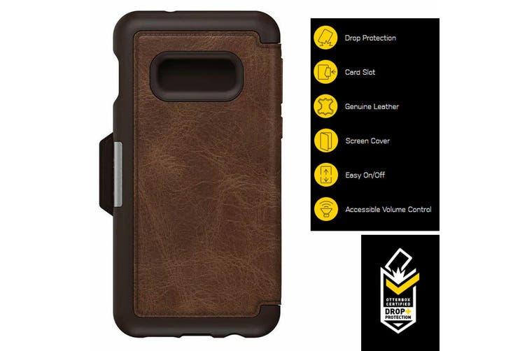 Otterbox Strada Protective Leather Case Cover f/ Samsung Galaxy S10e Espresso BR