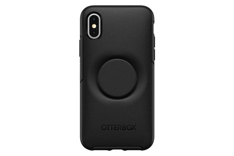 Otterbox Otter + Pop Holder Drop Proof Symmetry Case/Cover for iPhone X/Xs Black