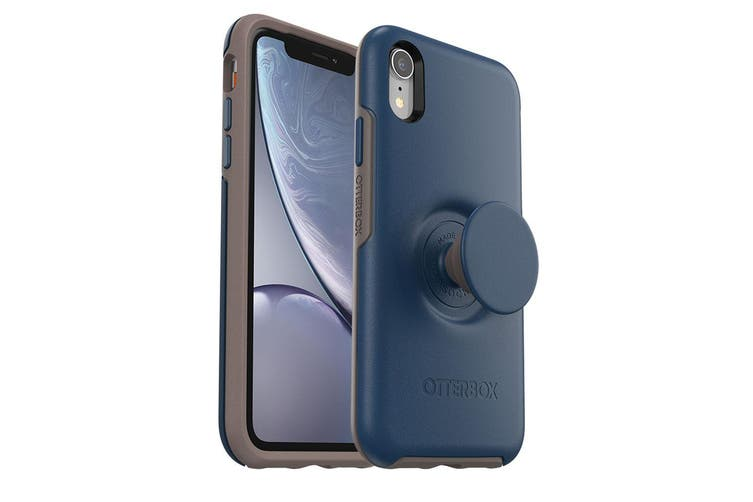 OtterBox Pop Holder Symmetry Case/Cover Drop Proof for iPhone XR Navy Blue