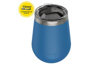 Otterbox Elevation Wine Tumbler 300ml Travel Drink Cup Stainless Steel w/Lid BLU
