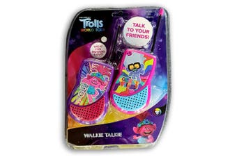 Dreamworks Trolls 2 Kids Walkie Talkie 5y+ 2-Way Radio Game Children Outdoor Toy