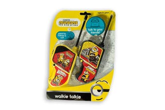 Minions Walkie Talkies Set Kids/Children/Friends Play/Talk 60m Range Yellow