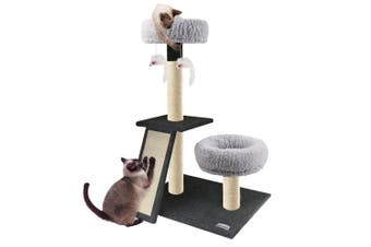 Paws & Claws 102cm Catsby Scratching Post w/ Ramp/Double Lounger Furniture Cat