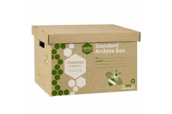 1Pack Marbig Standard Archive Documents/Files Storage Cardboard Box for Moving