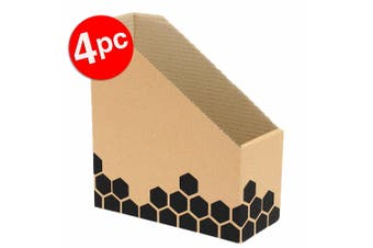 4pc Marbig Enviro Magazine/Book File Box f/ Desk/Home Organiser/Holder/Storage