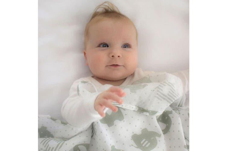6pc Bubba Blue 2Ply 120cm Petite Elephant Cotton Muslin Wrap/Swaddles Baby Grey