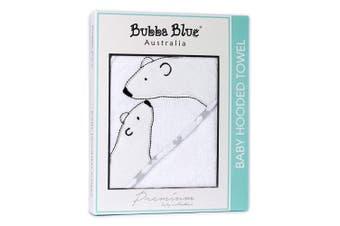 Bubba Blue Polar Bear Velour Baby Bathing Hooded Bath Cotton Towel/Bathrobe Wrap