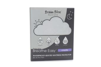 Bubba Blue Breathe Easy 96x55cm Waterproof Quilted Mattress Protector Cradle