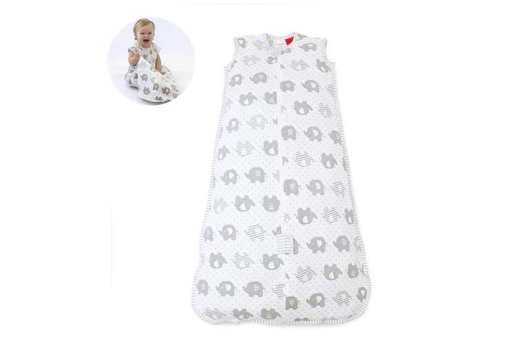 Bubba Blue Air+ Baby/Toddler Organic Cotton Sleep Bag 0.5 TOG 3-12m Elephant