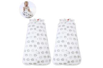 2PK Bubba Blue Air+ Baby/Toddler Organic Cotton Sleep Bag 0.5 TOG 3-12m Elephant