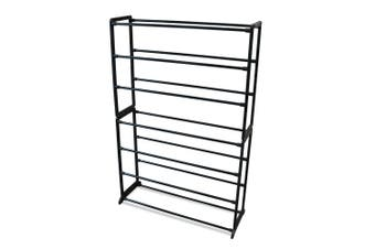 Boxsweden 7 Tier 95x61.5cm Shoe Rack/Storage Stand Shoes Organiser/Cabinet Black