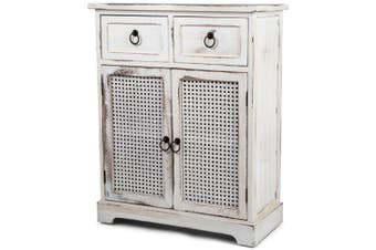 French Chic Double Door/Wood Drawer Cabinet 75cm Room Furniture Home Decor White