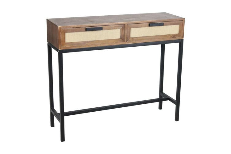 2-Drawer Console 100x85cm Home Room Decor Furniture Storage Cabinet Drawer Stand