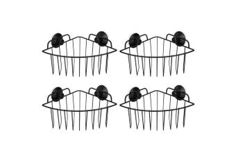 4PK BoxSweden Bathroom Corner Wall Suction Rack Shower Caddy Shelf Holder