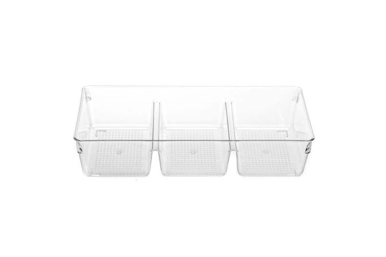 4PK Box Sweden Crystal Storage Tray Organiser BPA Free Plastic Container Clear
