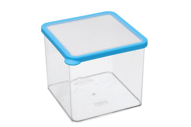 2x Lemon & Lime 2.65L Square Crisp Food Storage Container Dishwasher Safe Blue