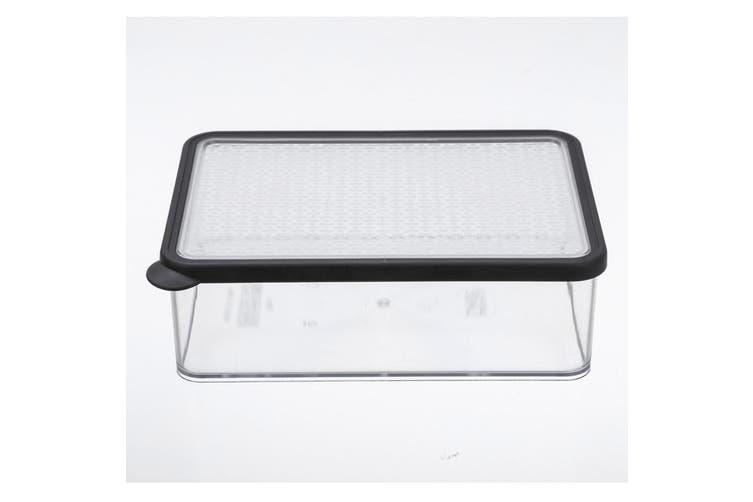 2x Lemon & Lime 1.75L Rectangle Crisp Food Storage Container Dishwasher Safe BLK