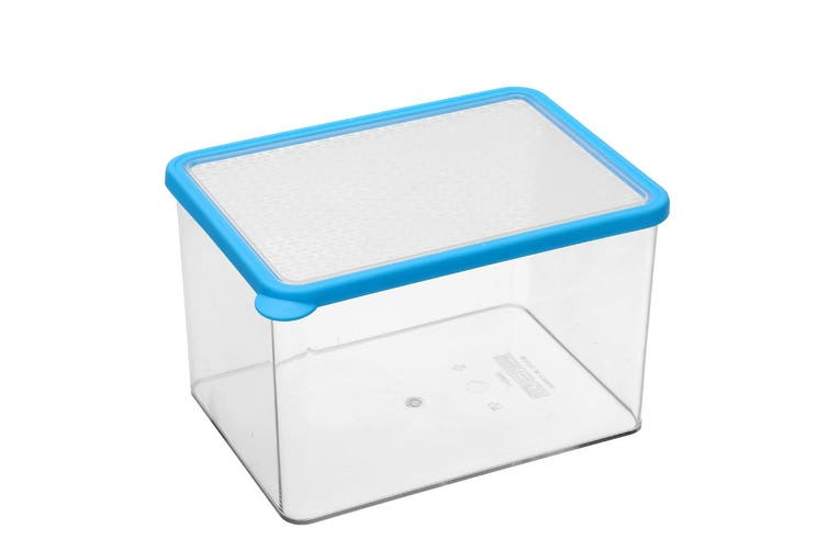 3x Lemon & Lime 3.84L Rectangle Crisp Food Storage Container Dishwasher Safe BLU