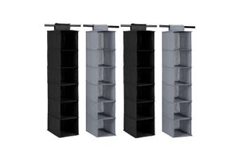 4x Box Sweden Mode 80cm 6 Compartment Wardrobe Clothes Storage Organiser Assort.