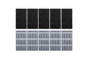 10x Box Sweden Mode 84cm 12 Pocket Hanging Wardrobe Organiser/Home Storage Asst.