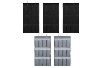 5PK Box Sweden Mode 84cm 12 Pocket Hanging Wardrobe Organiser/Home Storage Asst.