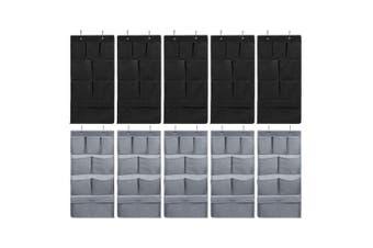 10PK Box Sweden Mode 80cm 8 Pocket Hanging Wardrobe Organiser/Home Storage Asst.
