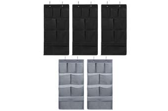 5PK Box Sweden Mode 80cm 8 Pocket Hanging Wardrobe Organiser/Home Storage Asst.