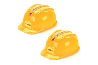 2PK Klein Bosch Worker Helmet Kids Builder Plastic Hat Construction Toy 3y+ YL