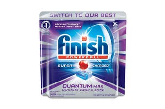 25PK Finish Capsules Powerball Tab Quantum Max Dishwashing Tablets f/Dishwasher