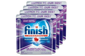 100PK Finish Capsules Powerball Tab Quantum Max Dishwashing Tablets f/Dishwasher
